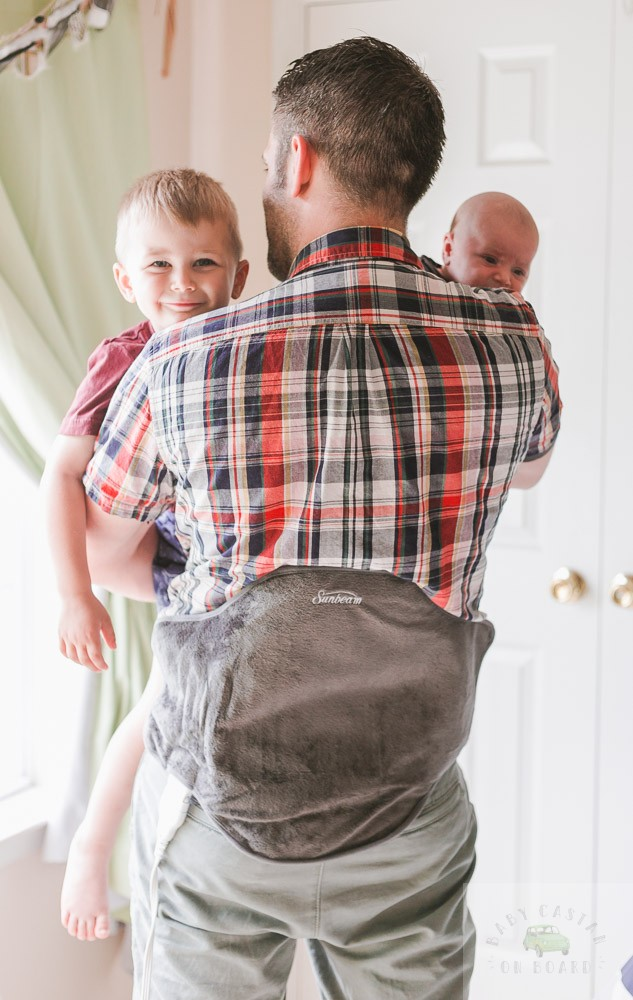 Combating Dad Life Back Pain with Sunbeam Renue Heating Pad